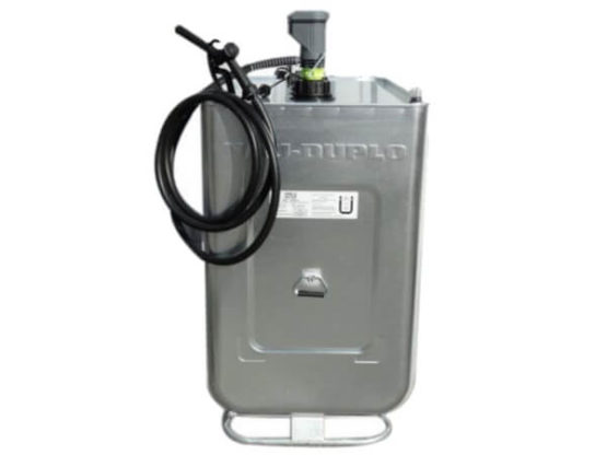 Heizöltank NAU Duplo 720 Liter verzinkt silber inklusive Elektorpumpe